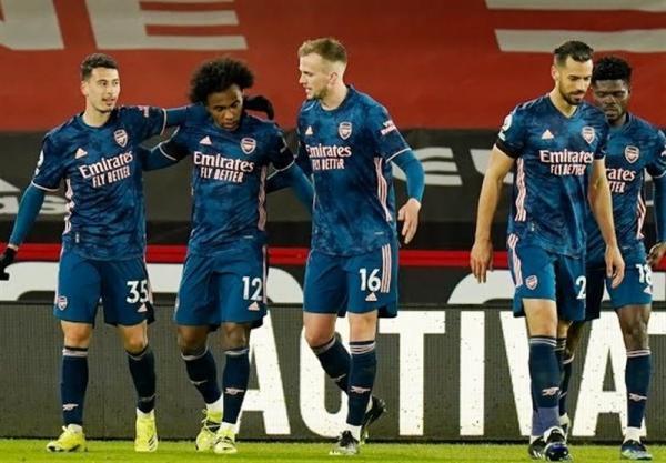 لیگ برتر انگلیس، آرسنال به بازی های بدون برد خود خاتمه داد